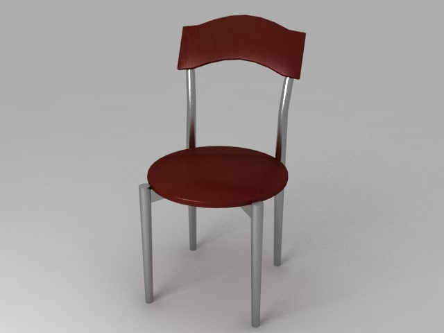 metal legged chair 3d model